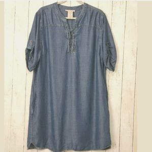 Philosophy Tencel Denim Shirt Dress Chambray Tunic